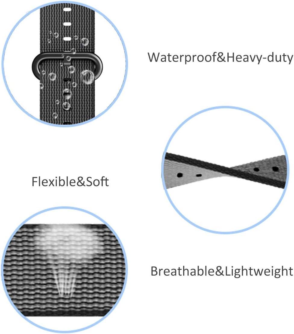DuiGong Woven Nylon Straps Compatible with Garmin Vivofit 3//JR//JR2 Tracker Metal Case Replacement Band Pink Small