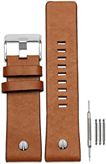 Finjin R Calfskin Leather Watch Band Suitable for Men's Diesel Watches
