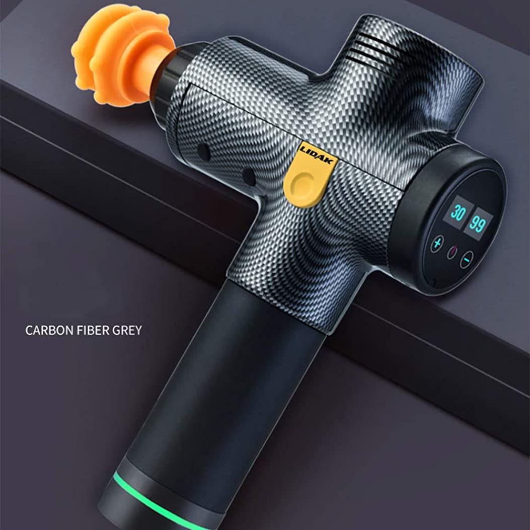 カストディアンタンパク質均等にガンの筋膜の筋肉マッサージ筋弛緩は、銃を緩和するために電気ショック銃の振動を行使します,Carbonfiber