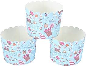 Coupe de gâteau appropriée, 220 ℃ carton blanc fait 7x6x5.5cm