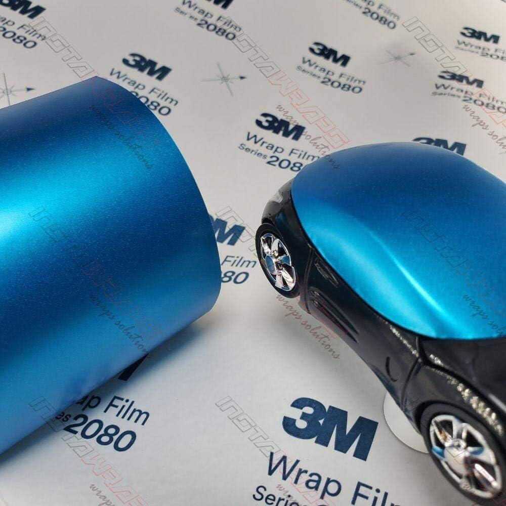 3M 1080 NEW before New color selling Satin Ocean Shimmer S327 Film Sample Vinyl WRAP CAR