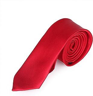 HDE Men's Solid Color Skinny Necktie Slim Adjustable Self Tie Fashion Accessory