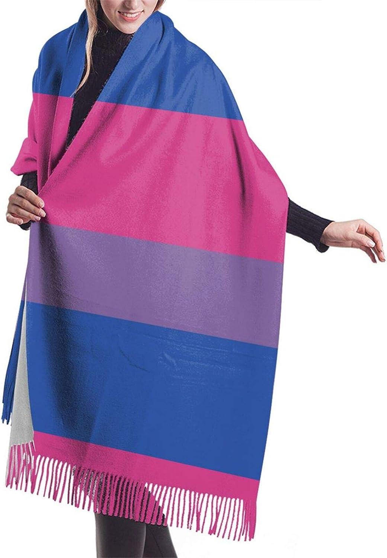 Red Blue Transprent Bi Flag Cashmere Feel Scarf Lightweight Soft Scarfs For Boys Girls Creative Warm Cold Weather Blanket Scarf