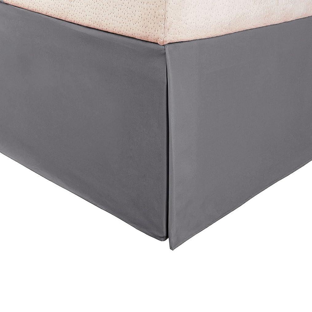 ソケットかりてバスケットボール(Twin XL, Ivory) - ExceptionalSheets Microfiber Solid Bed Skirt Set, Twin XL, Ivory