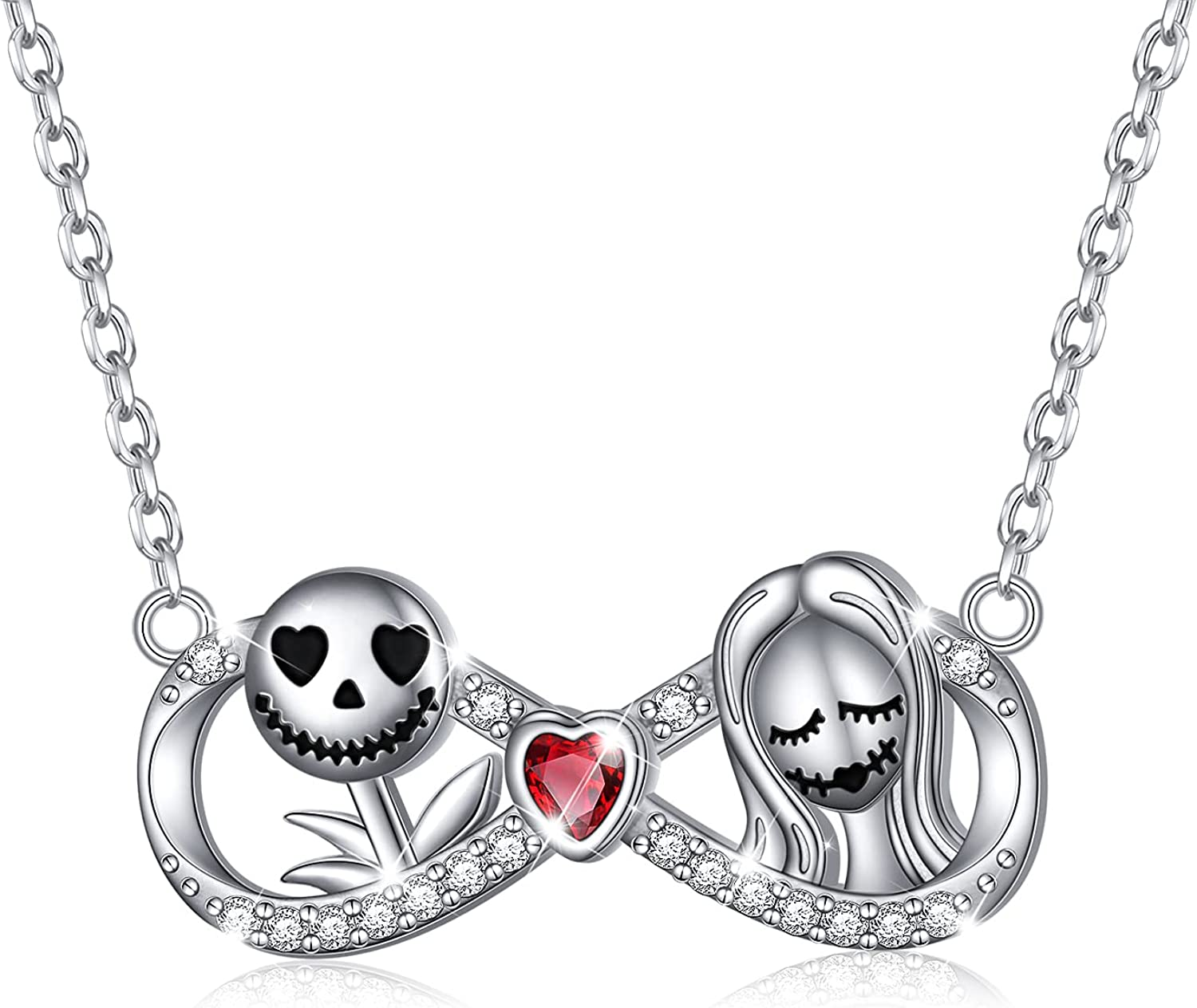 Nightmare Before Christmas New Charlotte Mall products world's highest quality popular Necklaces Sterling Gifts Sally Silver