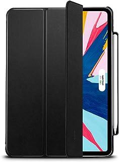 ESR iPad Pro 11 ケース 2018年モデル [第2世代Apple Pencilワイヤレス充電対応] 軽量 薄型 汚れ/スクラッチ防止 オートスリープ機能 三つ折りスタンド Apple Pencil収納 iPad Pro 11インチ 2018年秋モデル対応(ブラック)