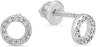 Best earrings circle diamonds Reviews