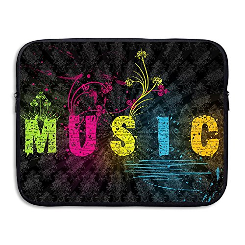 Business Briefcase Sleeve Best Music Pattern Laptop Sleeve Case Cover for 13 Inch MacBook Pro Air Dell Lenovo Samsung Sony