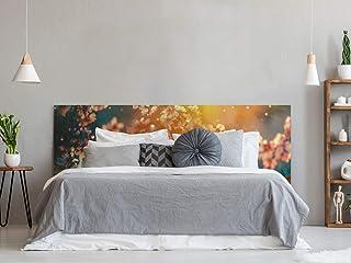 Cabecero Cama PVC Impresión Digital Cerezo Atardecer | Multicolor | 150 x 60 cm | Disponible en Varias Medidas | Cabecero Ligero, Elegante, Resistente y Económico