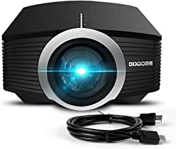 Video Projector, GooDee Mini Projector 2019 (Upgraded Version) 2800 Lumens LED Portable Projector with HDMI, Movie Projector with 130