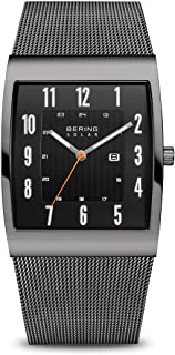 BERING Men's Analogue Solar Powered Watch with Stainless Steel Strap 16433-377