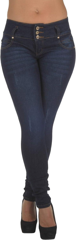 Plus/Junior Size Colombian Design Butt Lift Levanta Cola Stretch Skinny Jeans