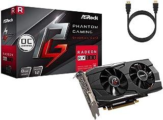 ASRock ファントム ゲーミング D Radeon RX 580 DirectX 12 OC グラフィックスカード 8GB 256-Bit GDDR5 PCI Express 3.0 x16 HDCP ビデオカード 1 x HDMI 3 x...