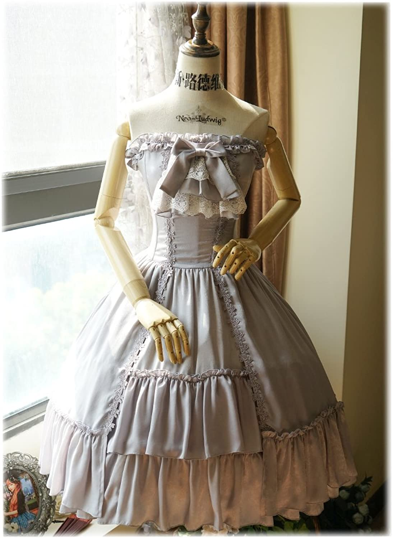 Exclusive Vintage Elegant Gothic Steel Boned Corset Bodice Strapless Dress & Cravat