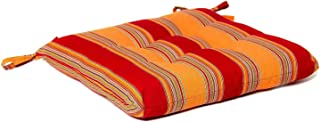 BBQGUYS Sunbrella Bravada Salsa Small Outdoor Replacement Seat Cushion