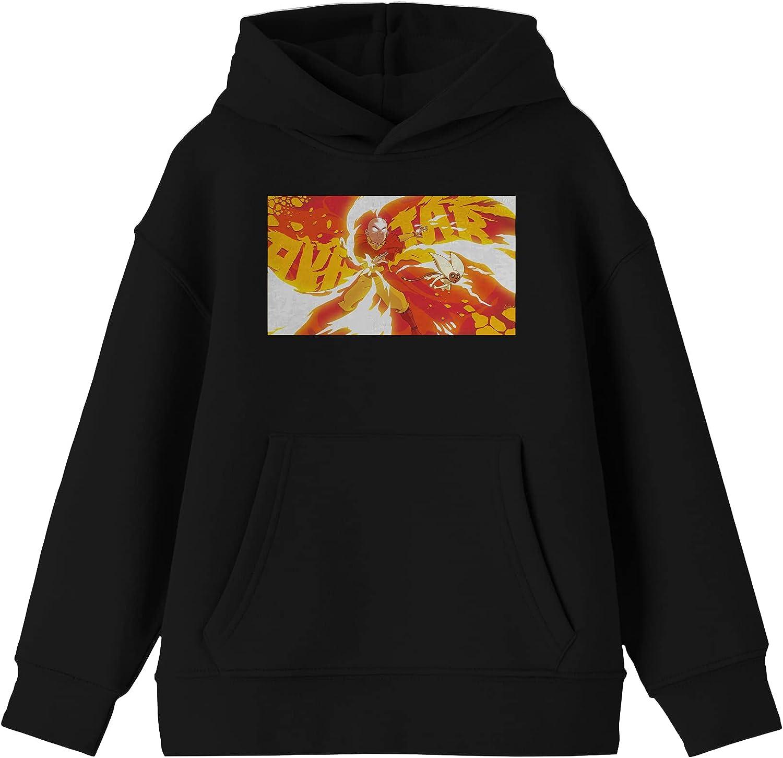 Fierce Avatar Aang Youth Black Hoodie