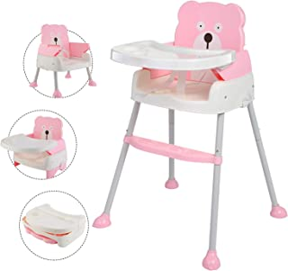 Arshiner 赤ちゃん用 多機能 ハイチェア 子供 お食事椅子 学習机 4wayベビーチェア 6ヶ月から6才まで お食事 おやつ 離乳食 テーブルチャア 組立 5点式安全ベルト 脱出防止 (BLUE) (ピンク)