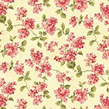 Clearance Sale~Forever Love~Ruby Butter Forget-Me-Not~Floral Cotton Fabric by Benartex