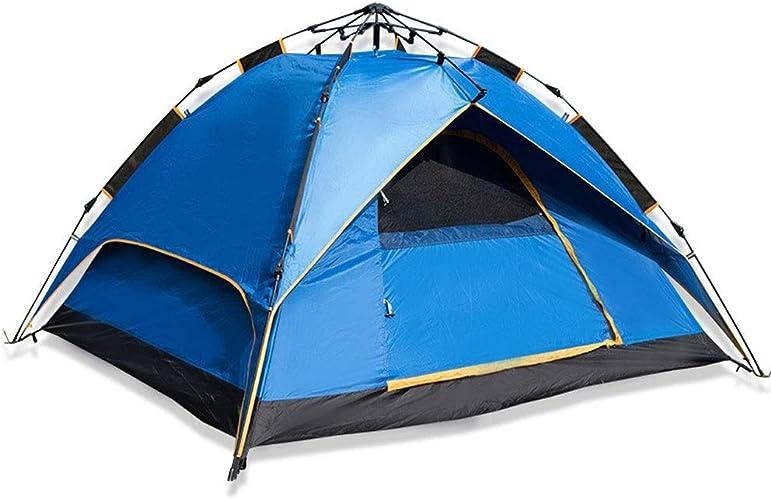 LYN Tente de Camping, Tente de Camping pour 3 Personnes, Tente de Prougeection Contre Les Mouches Anti-moustiques à Double Couche avec Sac de Transport pour Le Camping la randonnée Les Voyages la chas