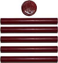 Red Wax Seal Sticks - 5 Pack Red Sealing Wax Sticks – Wax Seal Stamp Wax – Glue Gun Sealing Wax - USA Ingredients (Red Wax Sticks)