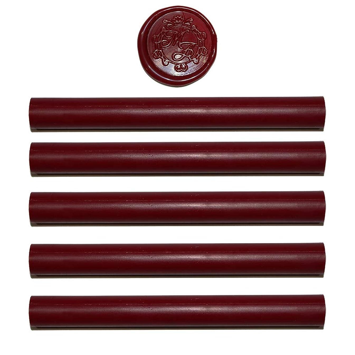 Red Sealing Wax Sticks - 5 Pack Sealing Wax Sticks - Wedding Wax Seals - 100% USA Ingredients (Red)