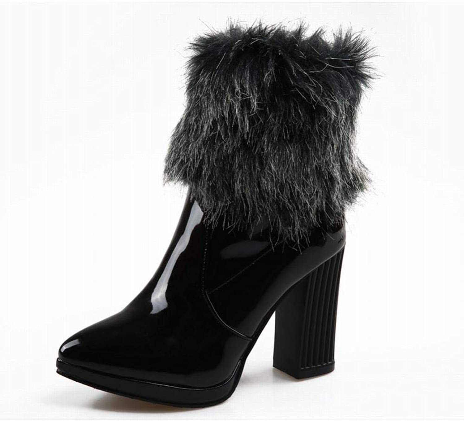 Women's Boots - Winter Warm Boots Thick with Velvet Snow Boots Short Tube Cotton shoes   34-43