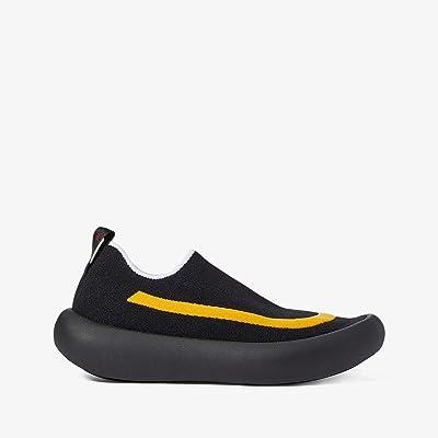 MARNI Knit Tube Sole Sneaker (Black/Lemon) Men