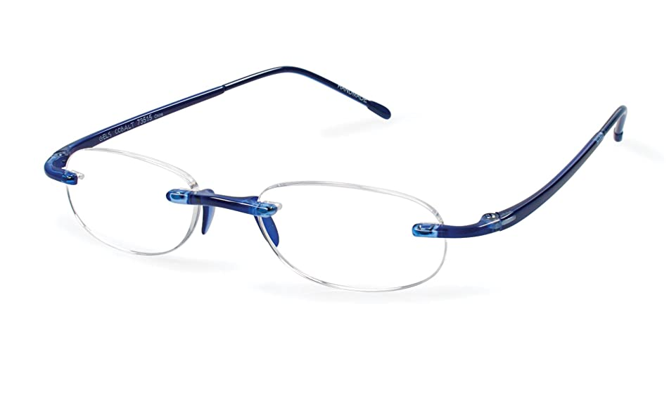 Gels - Lightweight Rimless Fashion Readers - The Original Reading Glasses for Men and Women - Cobalt Blue (+1.75 Magnification Power)