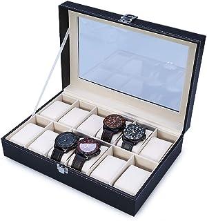 Reloj Caja Organizador Escritorio Armario Negro Caja de Relo