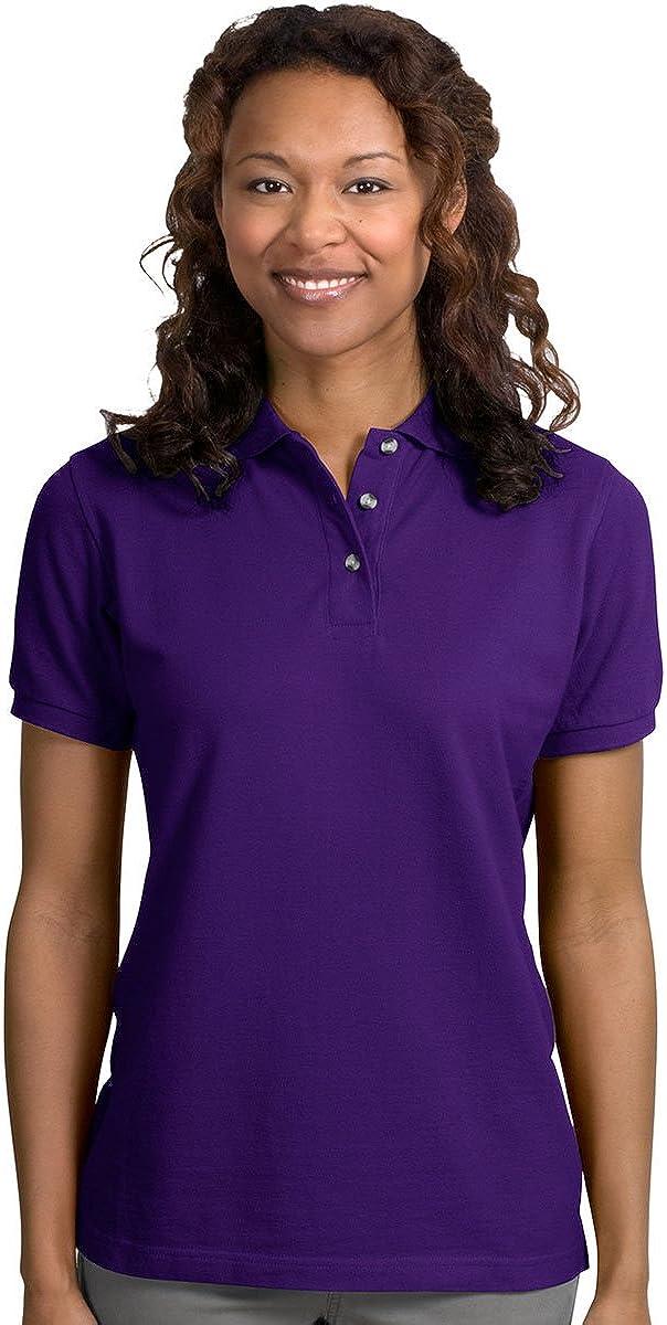 Ladies Port Authority Port Authority - Ladies Pique Knit Polo. L420 - XL - Purple