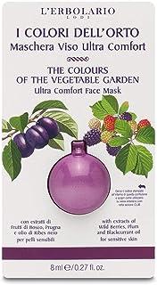 L'Erbolario Maschera Viso Ultra Comfort I Colori dell'Orto Per pelli sensibili, con estratti di Frutti di Bosco, Prugna e olio di Ribes nero 8 ml