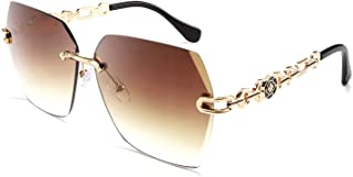 نظارات شمس نسائية كلاسيكية بدون إطار بإطار معدني من فيسيدي نظارات شمسية B2567