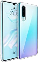UNBREAKcable Huawei P30 Case [Shock Absorption, Anti-yellowing] Crystal Clear Hybrid Soft TPU Bumper Hard PC Back Cover Phone Protective Cover for Huawei P30 - Transparent