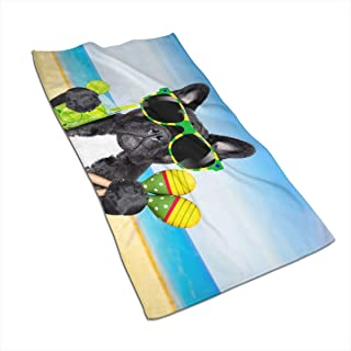 Brazil French Bulldog Kitchen Towels ¨C 17.5X27.5in Microfiber Terry Dish Towels for Drying Dishes and Blotting Spills ¨CDish Towels for Your Kitchen Decor