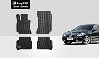 TOUGHPRO Floor Mat Accessories Set (Front Row + 2nd Row) Compatible with Mercedes-Benz E300 - All Weather - Heavy Duty - (Made in USA) - Black Rubber - 2010, 2011, 2012, 2013, 2014, 2015, 2016
