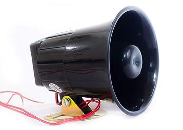 Quick Sense (Qs-H1) Plastic 220v -118 DB Hooter Security Alarm for Securities, Loud Sound -300-400 m   Black, 94 x 88 x 104 mm