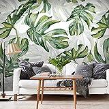 HUANGYAHUI Fotomurales Hoja De Planta Verde, Selva Tropical, Monstera. Papel pintado Papel Pintado murales decoración de paredes moderna