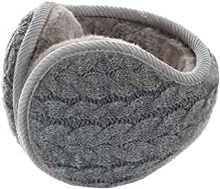 DHINGM Warm Winter Earmuffs,Knitting Earmuffs Outdoor Ear Bag,Women Keep Warm Cold Protection Hiking,Fine Workmanship, Excellent Texture (Color : Gray)