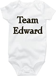 Team Edward Cute Baby Onesies, Funny Bodysuit, Twilight Baby Clothes