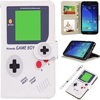 J7 Case, UrSpeedtekLive Galaxy J7 Wallet Case, Premium PU Leather Flip Wallet Case Cover w/Card Slots & Kickstand Compatible with Samsung Galaxy J7 - Game Boy Pattern