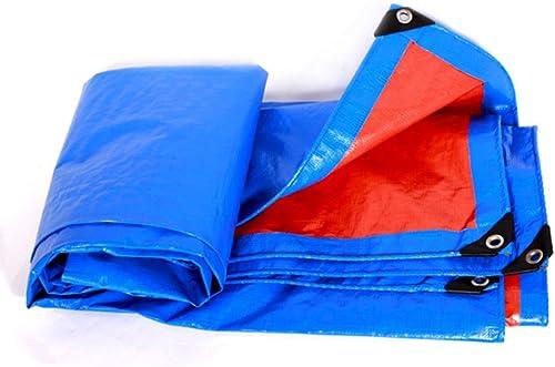 Bache Bache de Prougeection imperméable en Plastique de bache de Pluie de bache, épaisseur 0.35mm, 160g   m2, Options de Taille DE 13, Orange + Bleu