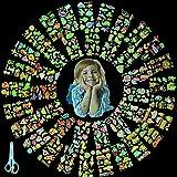 Herefun Tatuaggi Temporanei per Bambini, 40 Fogli Tatuaggi Luminoso, Tatuaggi per Bambini Unicorno Sirena Dinosauro Pirata, Set di Tatuaggi Temporanei per Regalo Decorazione Halloween Festa Ragazzo