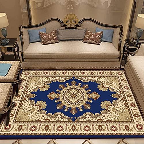 FGDSA Vintage Handgeknüpfte Persische Seidenteppiche Klassischer Orientalischer Blumenmedaillon-Teppich Flauschige rutschfeste Mikrofaser Bedruckte Teppiche-