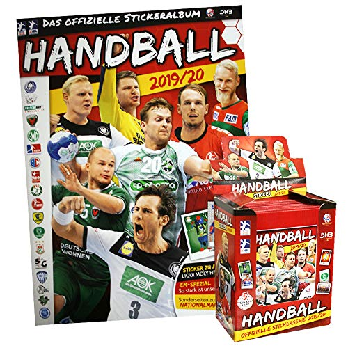 Handball Bundesliga 2019/20 Sammelsticker- 1 Display (50 Tüten) + 1 Album