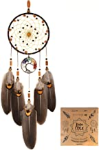 Littlear Dream Catcher Handmade Tree of Life Dream Catchers with Feathers Wall Hanging Home Decor Dia 5.1