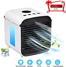 EOSAGA Personal Air Cooler, Personal Air Conditioner, Space Air Conditioner Fan Mini Fan Humidifier Portable 3 Gear Speed,Office Cooler Humidifier & Purifier