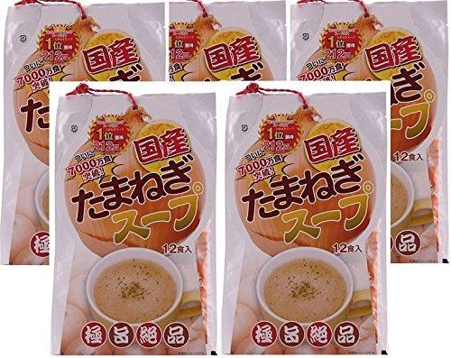 【5個セット】 国産 玉ねぎスープ 6.2g×12包