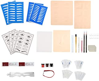 Microblading Kit, Eyebrow Tattoo Set Microblading Permanent Makeup Tool Kit Eyebrow Tattoo Practice Tattoo Pen Ink