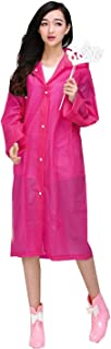 ColorDrip Fashion Translucent Raincoat Rain Jacket Rainwear for Woman Lady Girl - Made of Eco-Friendly EVA Material