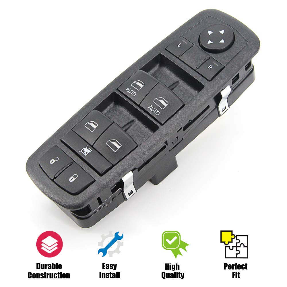 WMPHE Dual-automatic Electric Master Window Switch compatible for Dodge Rams with Standard OEM number replacement for 4602863AB 4602863AC 4602863AD